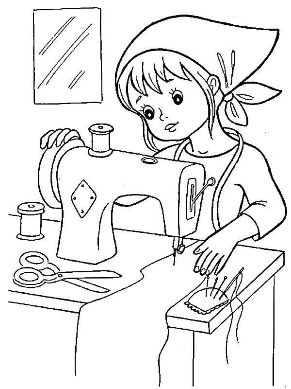 Tranh tô màu cho bé theo chủ đề ngành nghề 12