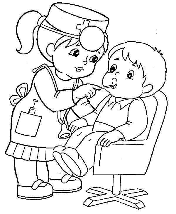 Tranh tô màu cho bé theo chủ đề ngành nghề 14