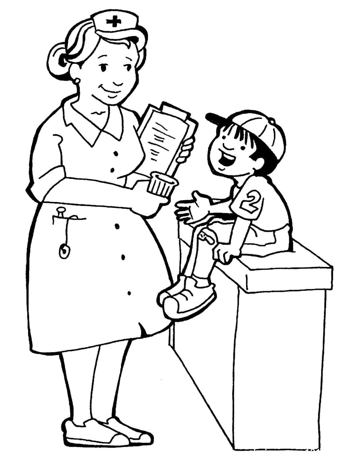 Tranh tô màu cho bé theo chủ đề ngành nghề 25
