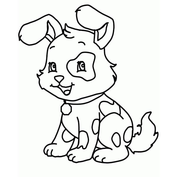 bức tranh tô màu con chó