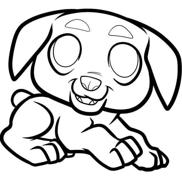 Ảnh tranh tô màu con chó