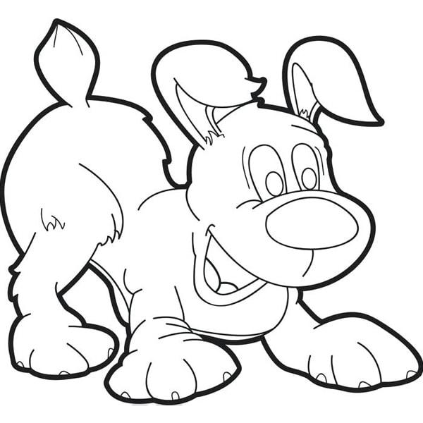 Tranh tô màu con chó 2
