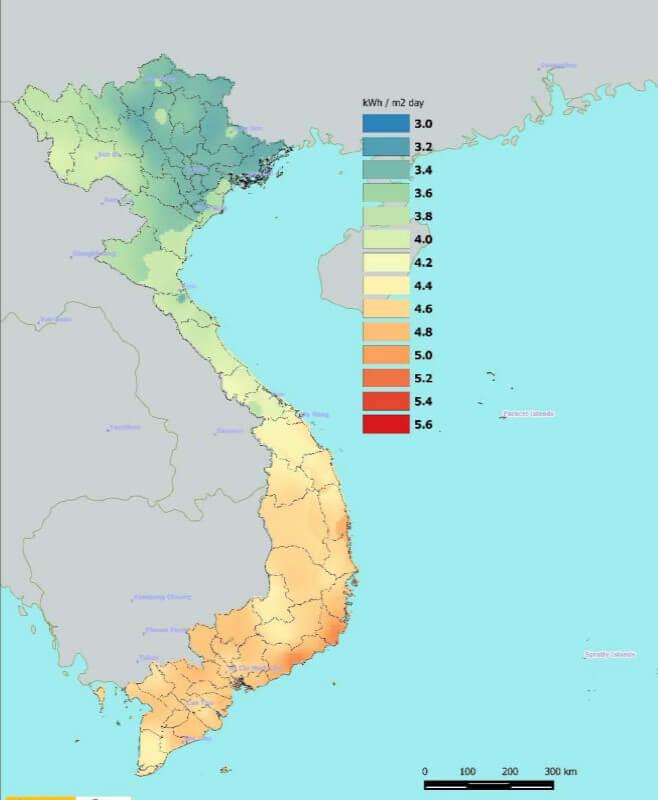 Bản đồ vùng nhiệt độ các nơi ở việt nam