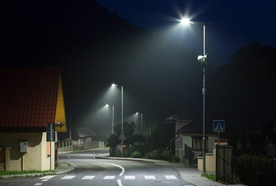 Đèn led đường năng lượng mặt trời thường