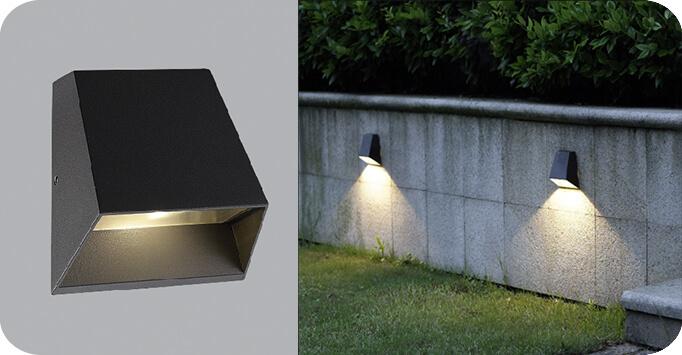đèn LED sân vườn gắn tường