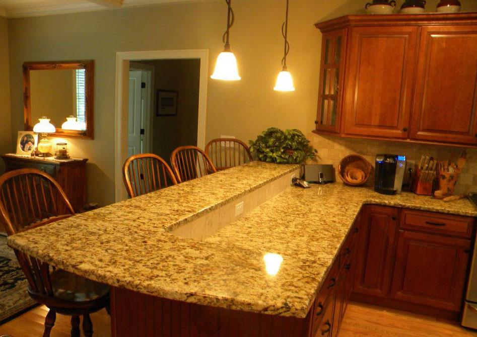 đá granite màu vàng