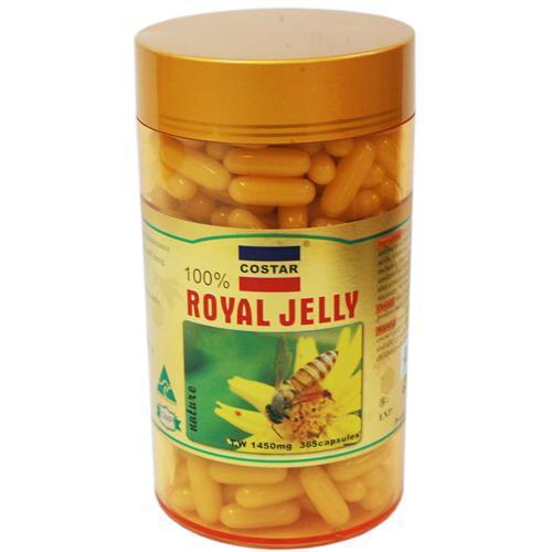 10 tác dụng của sữa Chúa Úc Costar Royal Jelly 1450mg 365 Viên