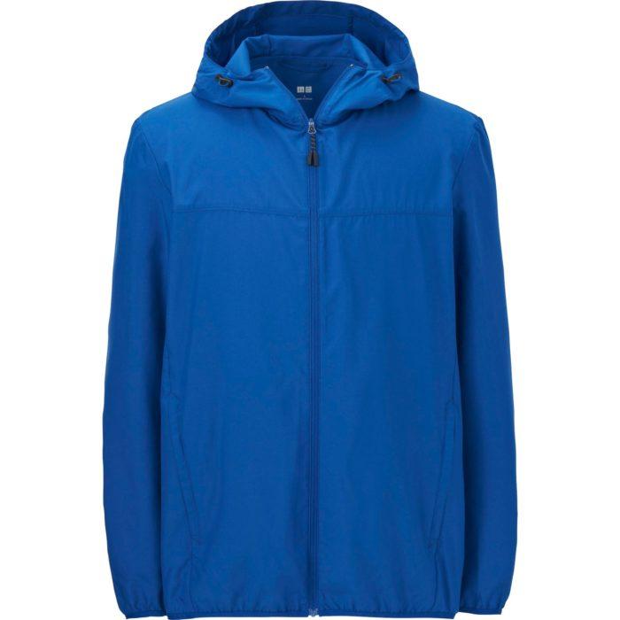 Áo khoác chống nắng nam Uniqlo vải dù một màu