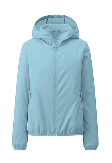 Áo khoác chống nắng nữ Uniqlo Nhật vải dù một màu