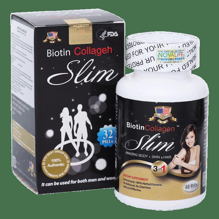 Biotin Collagen Slim – Thuốc giảm cân đẹp da đẹp tóc