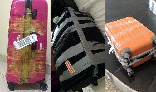 Cách làm sạch băng dính trên vali