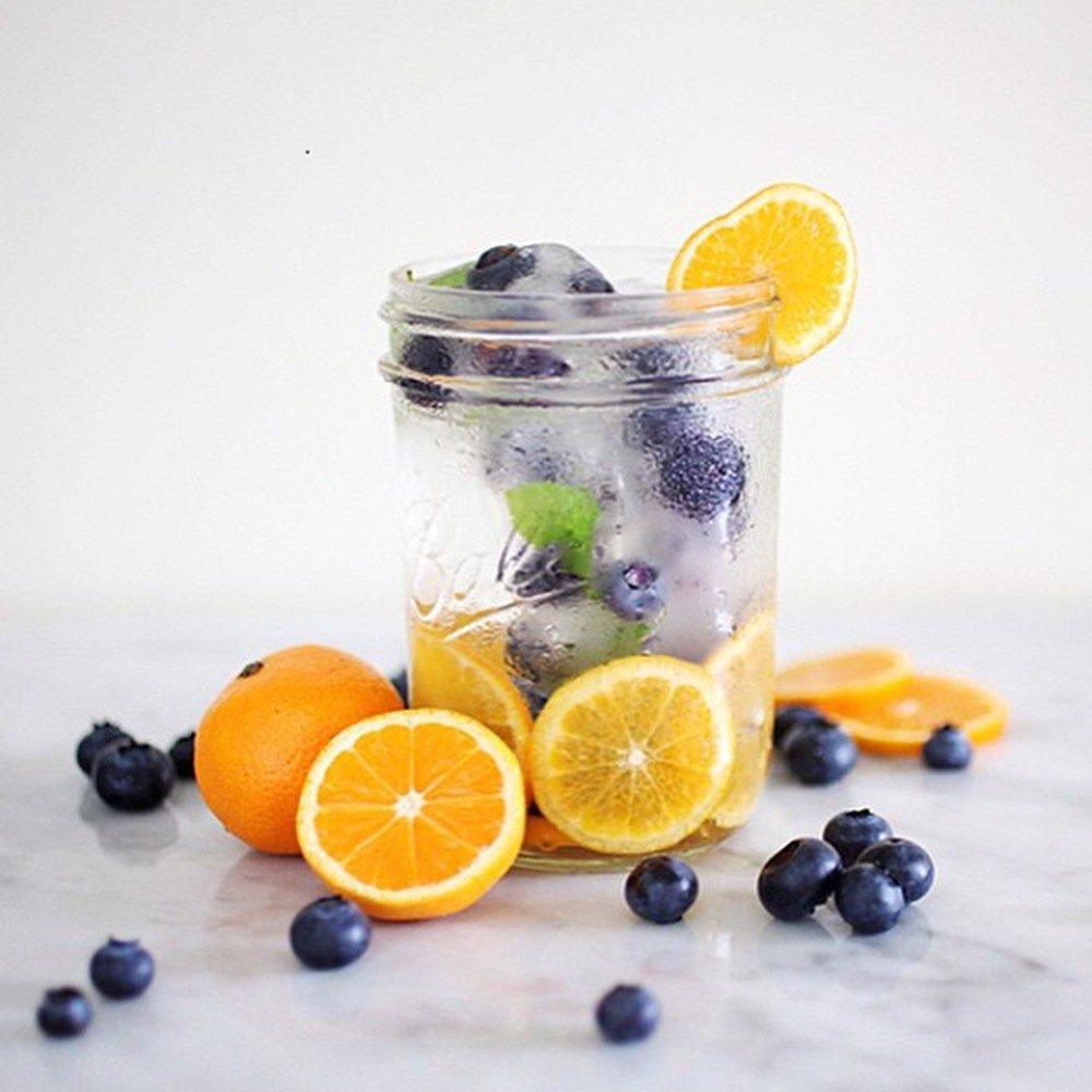Nước detox việt quất và cam giảm cân hiệu quả