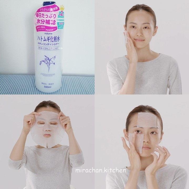 Hướng dẫn làm Lotion Mask với Hada Labo Lotion Japan