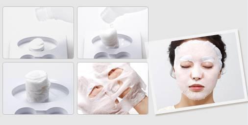 sử dụng mặt nạ giấy làm Lotion Mask với Hada Labo Lotion