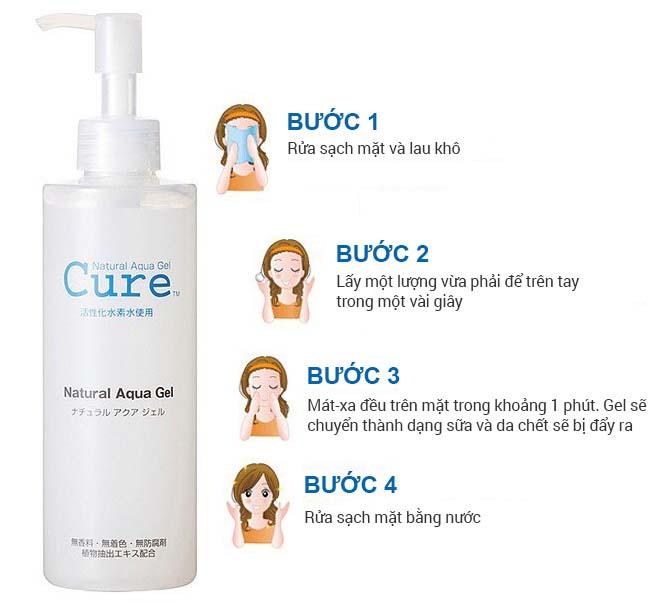 Hướng dẫn sử dụng gel tẩy da chết Cure