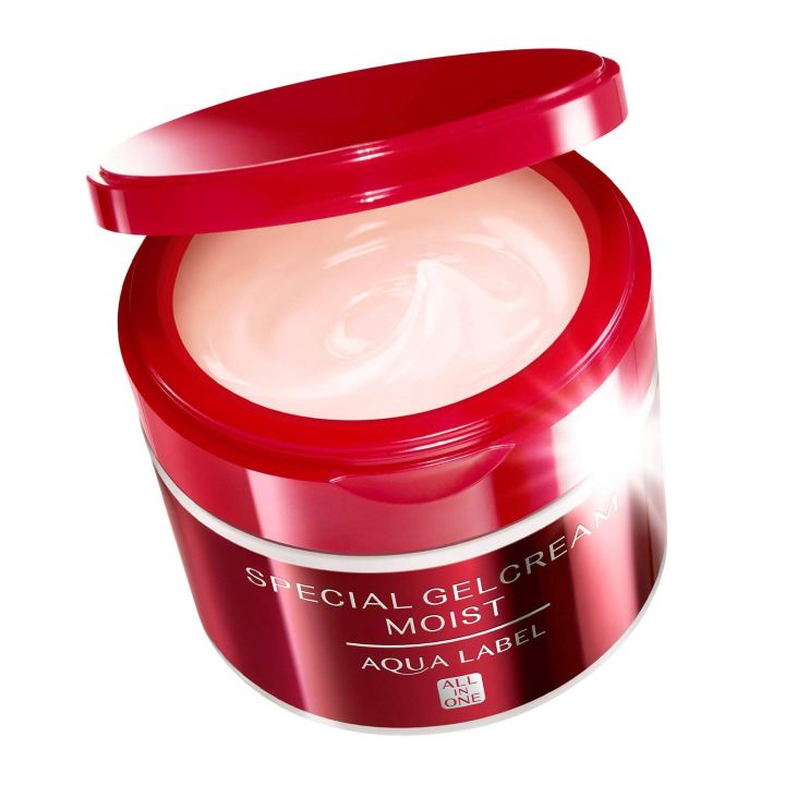 Kem dưỡng da ban đêm Shiseido Aqualabel màu đỏ
