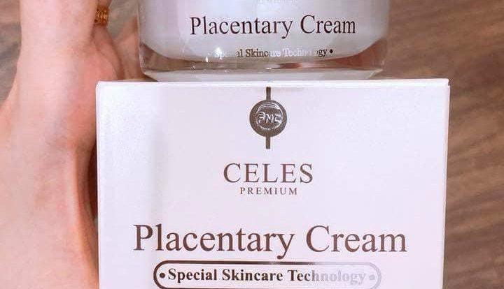 Kem dưỡng trắng da trị nám Celes Placentary Cream Làm cho làn da trở nên mịn màng và căng mướt hơn