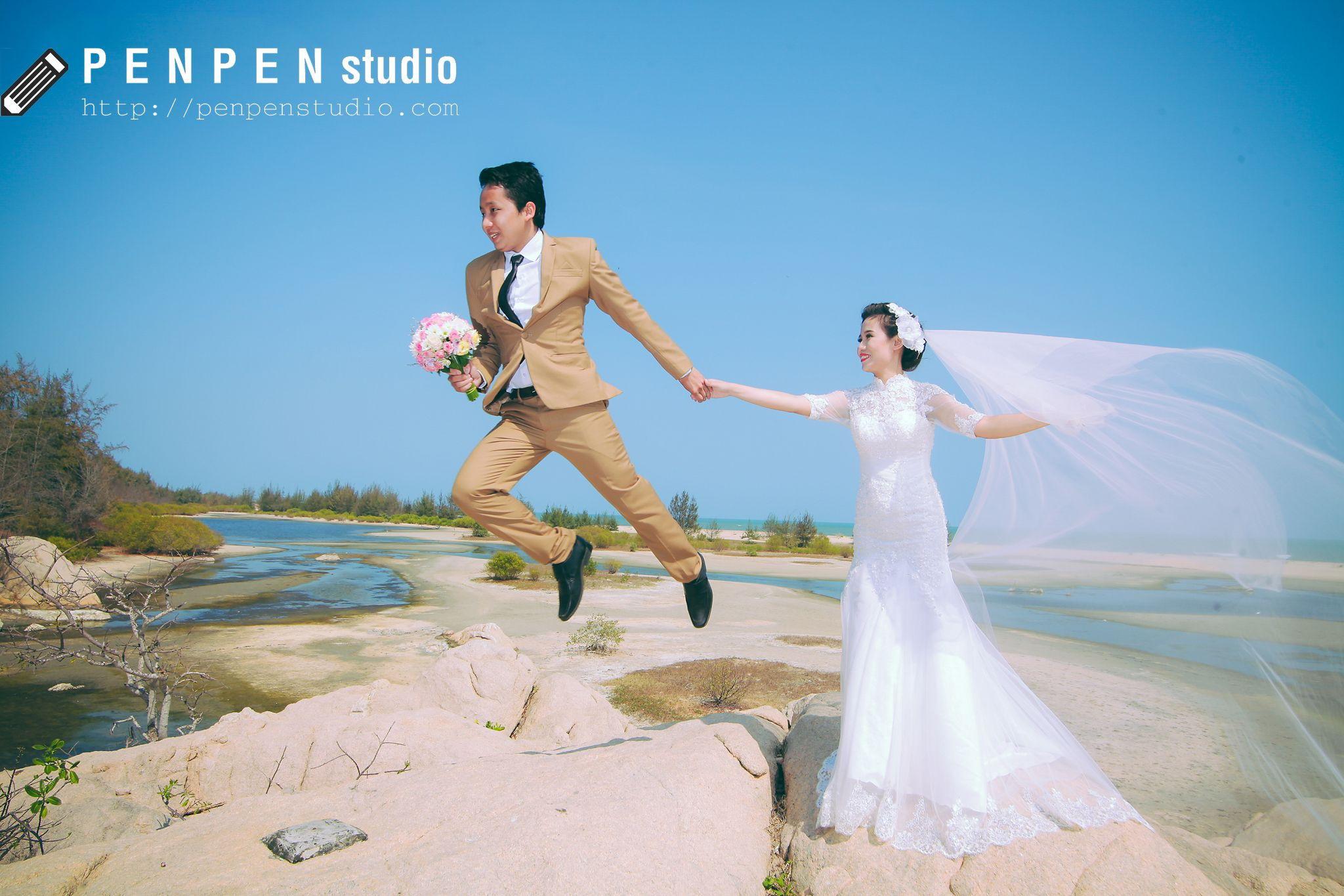 Chụp hình cưới tại Hồ Cốc bãi biển