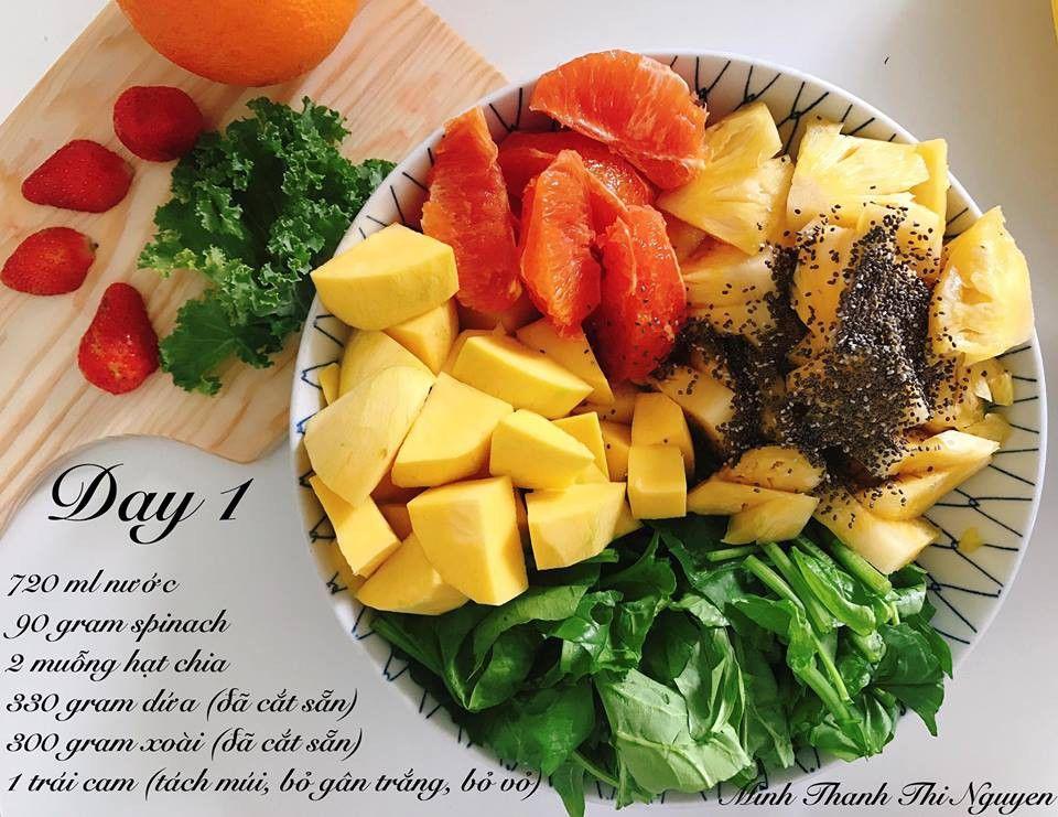 Thực đơn giảm cân với sinh tố rau spinach
