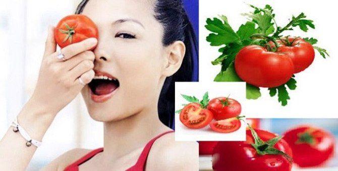 Mặt nạ dưỡng da từ cà chua