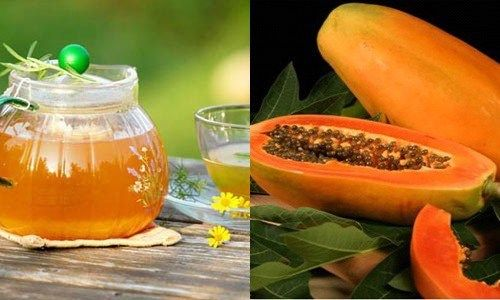 Mặt nạ dưỡng da từ đu đủ và mật ong