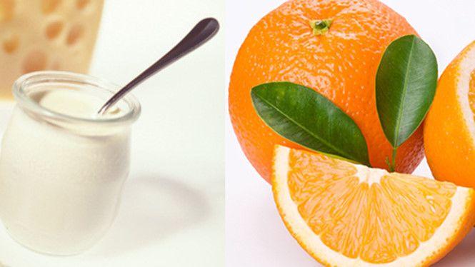 Mặt nạ sữa chua và nước cam làm trắng da mặt không tỳ vết