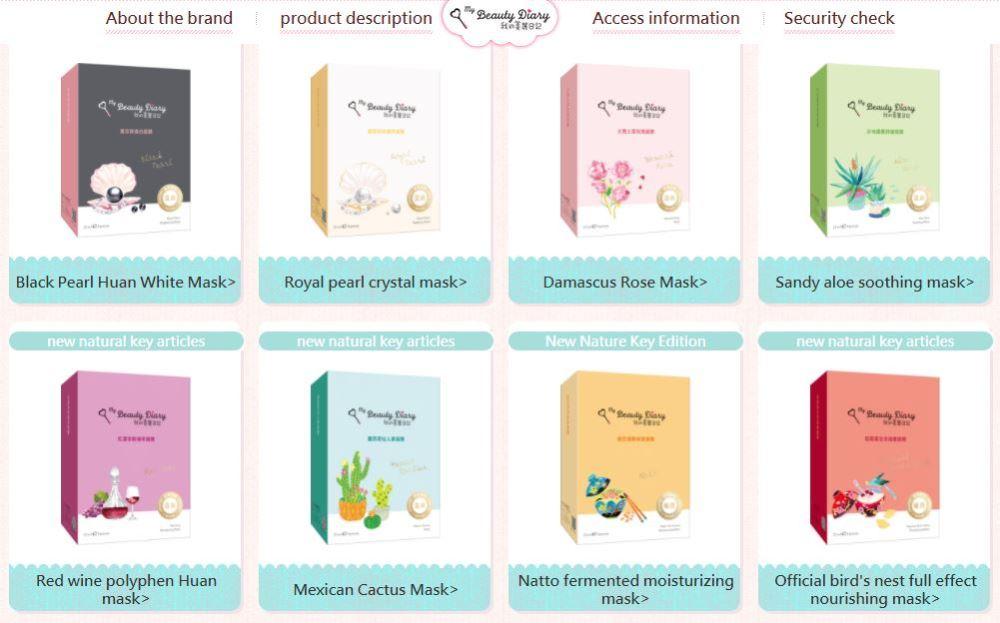 Review Các màu và công dụng của mặt nạ my beauty diary TPHCM