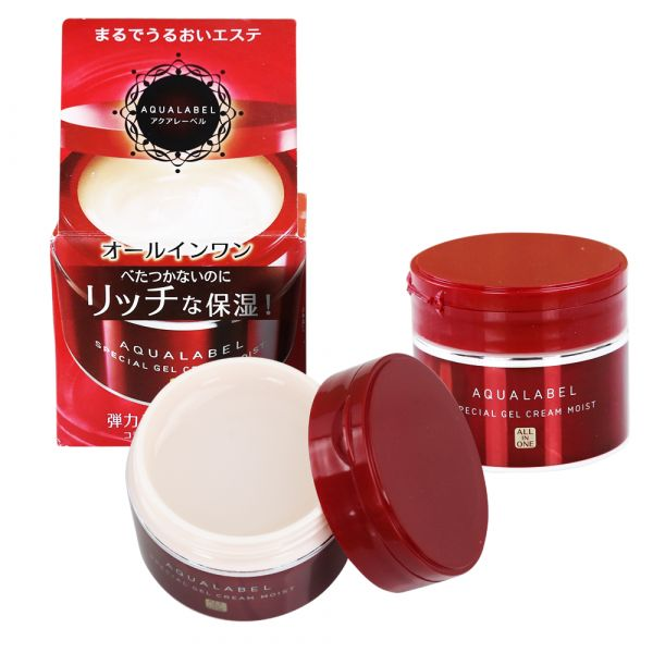 kem shiseido aqualabel special gel cream màu đỏ