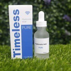 Serum Timeless Hyaluronic Acid da sẽ được uống nước no, đàn hồi tốt và bóng mịn
