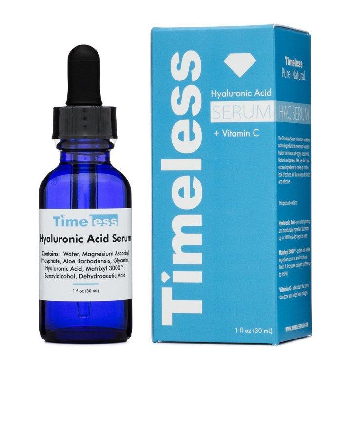 Serum Timeless Hyaluronic Acid + Vitamin C Có chứa vitamin E nhưng không gây mụn ẩn như nhiều bạn lo sợ giống các sản phẩm khác