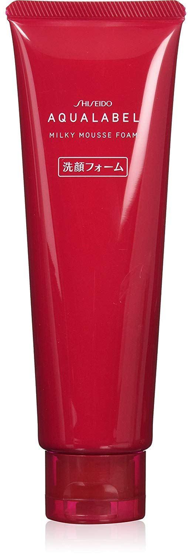 Sữa rửa mặt Shiseido Aqualabel Milky Moisture Foam màu đỏ