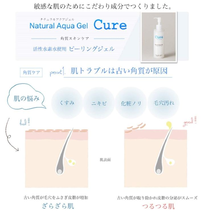 tẩy da chết Cure Natural Gel