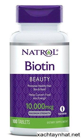 Thuốc uống Natrol Biotin 10.000 MCG Giảm hẳn triệu chứng rụng trong thời gian đầu sử dụng