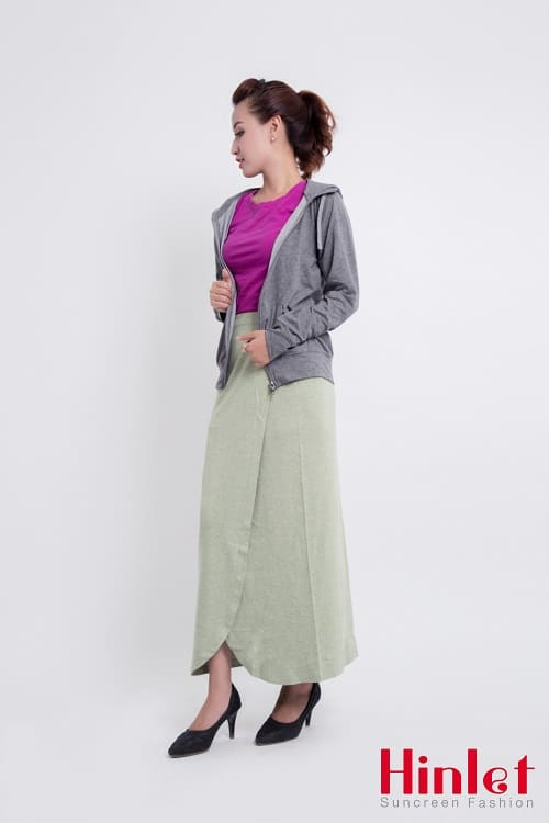 Váy chống nắng dạng quần cho chị em đi chùa
