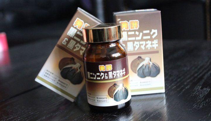 Viên uống tỏi đen và hành đen Nhật Bản