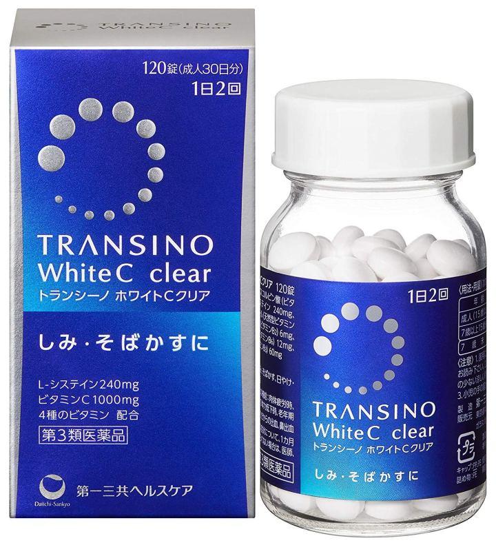 Viên uống trắng da, trị nám Transino White C Clear