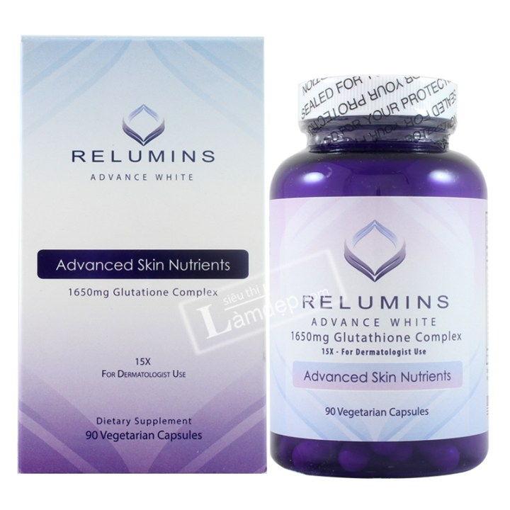 Viên uống trắng da và collagen của Relumins giúp bạn nhanh chóng lấy lại làn da săn chắc