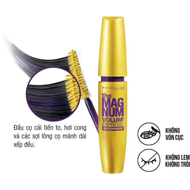Mascara làm dày mi x10 lần Maybelline Magnum