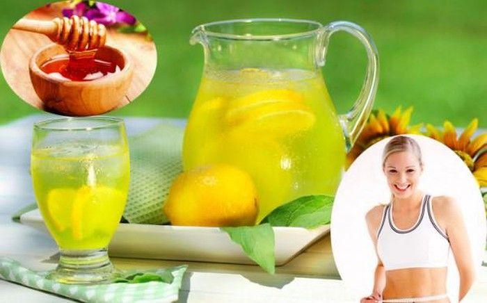 Các công thức giảm cân Mật ong và chanh
