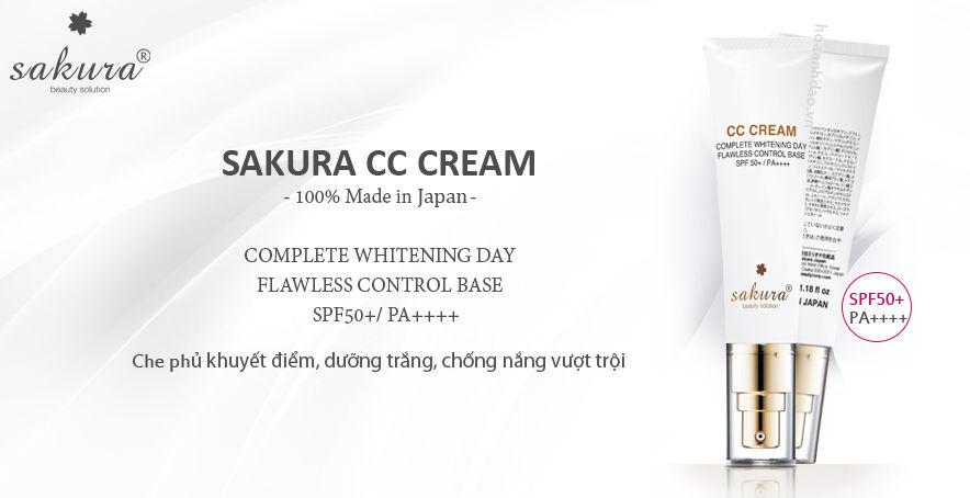 Kem trang điểm Sakura CC Cream SPF50+/ PA++++