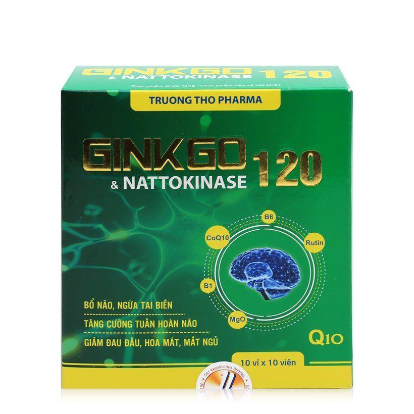 Thực phẩm chức năng Ginkgo & Nattokinase 120 100 viên