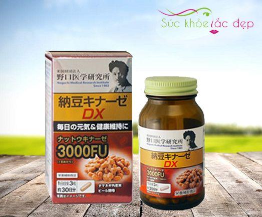 Viên Uống Nattokinase 3000FU Nhật Bản Chống Đột Quỵ Mẫu Mới Nhấ