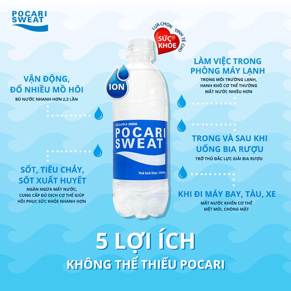 Nước pocari sweat là gì ? Mua ở đâu chính hãng?