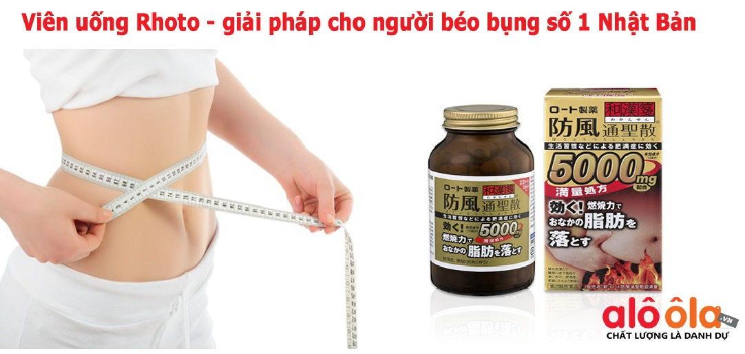 Thuốc giảm cân, giảm béo bụng Rohto 3750mg.