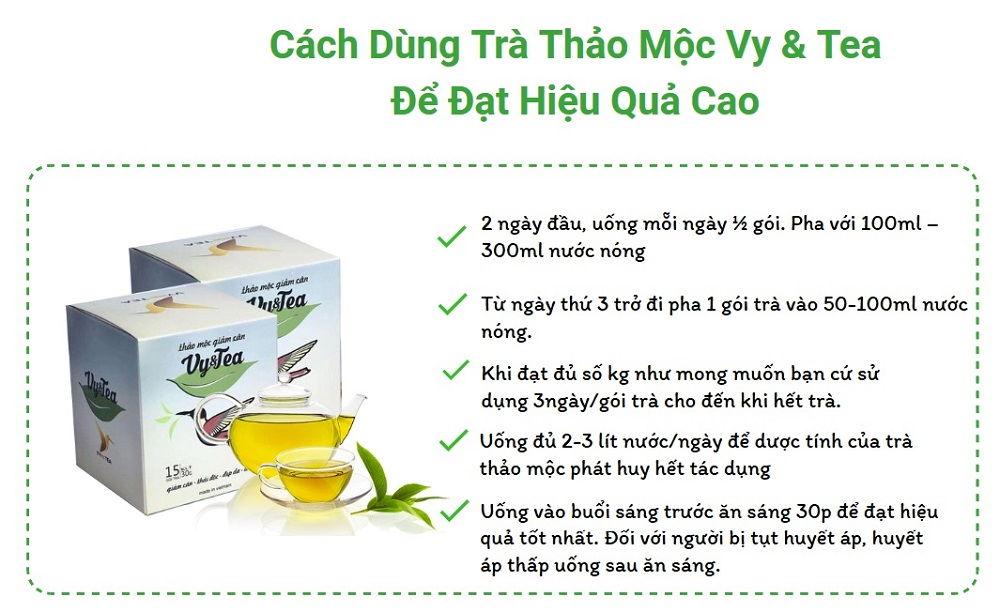 Công dụng của trà Vy Tea: