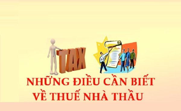 tjoong tin về thuế nhà thầu